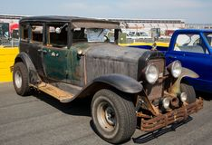 1929 Buick. CONCORD, NC - September 22, 2017:  An unrestored 1929 Buick automobile on display at the Pennzoil AutoFair classic car show held at Charlotte Motor Royalty Free Stock Photography