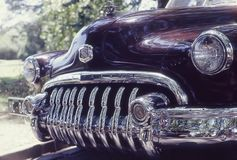Buick eight grill. Front of a stylish black Royalty Free Stock Images