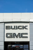 Buick GMC Automobile Dealership Exterior and Logo. Royalty Free Stock Image