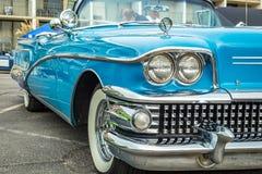 Buick inskränkt cabriolet 1958 Arkivbild