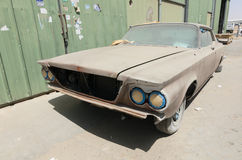 1960 Buick le sabre car left in ruin needing restoration Royalty Free Stock Photo
