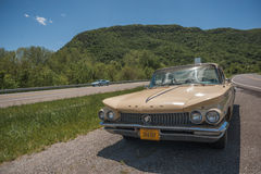 1960 Buick Lesabre. EAGLE ROCK, VIRGINIA-MAY 2 2017: A 1960 Buick Lesabre parked by the side of the road Stock Image