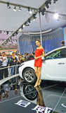 Buick  and model. On the chengdu international auto show.Photo is taken on 24 Sep 2011 Royalty Free Stock Photo
