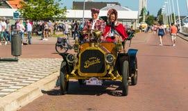 Buick Oldtimer bij de jaarlijkse nationale oldtimerdag in Lelystad Royalty-vrije Stock Fotografie