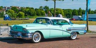 Buick Oldtimer bij de jaarlijkse nationale oldtimerdag in Lelystad Royalty-vrije Stock Foto
