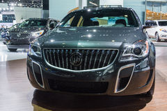 Buick Regal GS AWD 2015 on display. Los Angeles, CA - November 19, 2014: Buick Regal GS AWD 2015 on display at the LA Auto Show Royalty Free Stock Photo