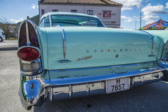 1957 Buick Roadmaster, detaljbaksida Royaltyfri Fotografi