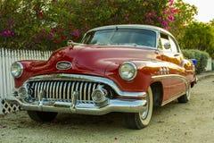 Buick rojo viejo Foto de archivo libre de regalías