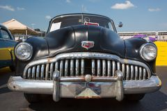 1949 Buick Super. CONCORD, NC - April 8, 2017:  An unrestored 1949 Buick automobile on display at the Pennzoil AutoFair classic car show held at Charlotte Motor Stock Images