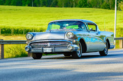 Buick super coupe multicolor 1957 Royalty Free Stock Image