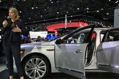 Buick sur l'affichage au salon de l'Auto 2017 international nord-américain Image libre de droits
