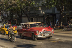 Buick taxi fifties Havana Royalty Free Stock Photos