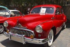 Buick 1949 toppna konvertibla kryssa omkring Lo, VCCCI tappning- och klassikerbilen samlar, April 1, 2018, Kharadi, Pune, Maharas fotografering för bildbyråer