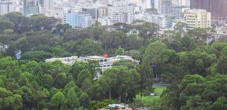 从buiding的上面的独立宫殿视图 免版税库存图片