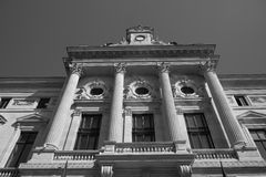 Buiding facade urban black and white Stock Images