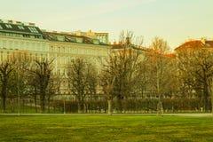 Buidings, πάρκο Augarten, Βιέννη, Αυστρία Στοκ Εικόνες