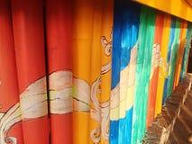 Buidingsontwerp van kleurrijke stijl Thailand Royalty-vrije Stock Foto