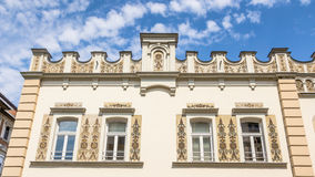 buidling在布达佩斯匈牙利的一栋老公寓 免版税图库摄影