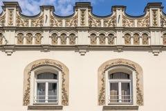 buidling在布达佩斯匈牙利的一栋老公寓 免版税库存照片
