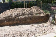 Buidling новая терраса в саде Стоковые Фотографии RF
