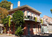 Buidling in French Quarter & x28;New Orleans& x29;. Old New Orleans houses in french Quarter royalty free stock photo