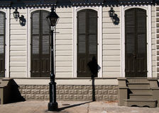 Buidling in French Quarter & x28;New Orleans& x29;. Old New Orleans houses in french Quarter stock photo