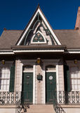 Buidling in French Quarter & x28;New Orleans& x29;. Old New Orleans houses in french Quarter stock photography