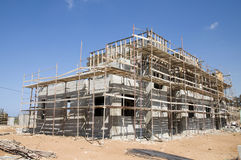 Buidling a house. Buidling a modern concrete house Royalty Free Stock Photo