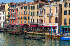 Buidlings and Boats in Venice Royalty Free Stock Photos