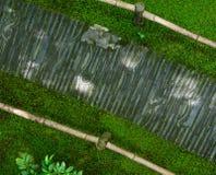 Buigende steenweg, Japanse Tuin Stock Foto
