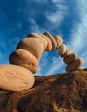 Buigende stenen Stock Foto's
