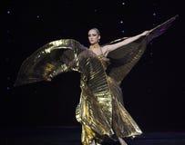 Buik oosters-Turkije de dans-de werelddans van Oostenrijk Stock Fotografie