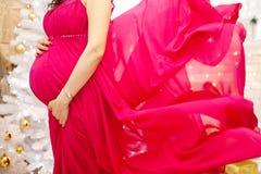Buik van zwangere vrouw Royalty-vrije Stock Foto