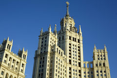 Build. In moscow is blue sky royalty free stock photo