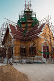 Build. New temple in Ayutthaya Stock Images