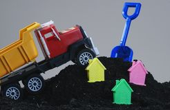 Build. Toys looks like construct a building Royalty Free Stock Photography