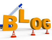 Build Blog Shows Web Site And Blogger 3d Rendering Royalty Free Stock Photo