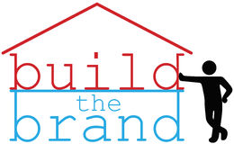 Build Business Brand promotion person Royalty Free Stock Photos