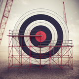 Build a business target . Mixed media Stock Photography