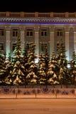 build christmas decoration fasade public Στοκ φωτογραφία με δικαίωμα ελεύθερης χρήσης