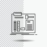 Build, construct, diy, engineer, workshop Line Icon on Transparent Background. Black Icon Vector Illustration. Vector EPS10 Abstract Template background stock illustration