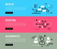 Build Digital Audience. Web banners  set Stock Photography