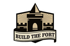 Build the fort logo Stock Photos