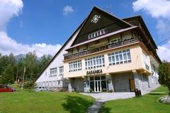 Build of hotel in Slovakian Tatras. Stock Photos