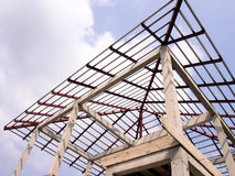 Build a house. New residential construction home roofing Royalty Free Stock Photo