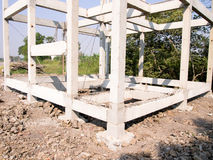 Build a house. New residential construction home framing Royalty Free Stock Image