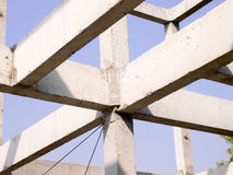 Build a house. New residential construction home framing Royalty Free Stock Images