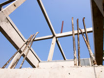 Build a house. New residential construction home framing Stock Images