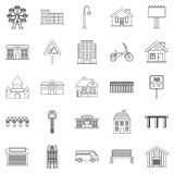 Build icons set, outline style Stock Image