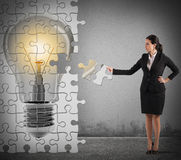 Build an idea puzzle Royalty Free Stock Image